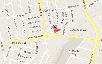 Lower Azusa Dental Group - Map